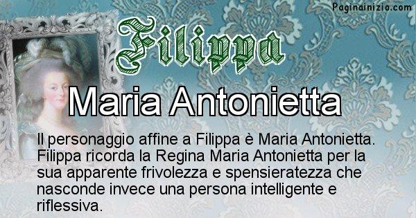 Filippa - Personaggio storico associato Filippa