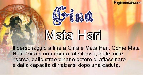 Gina - Personaggio storico associato Gina