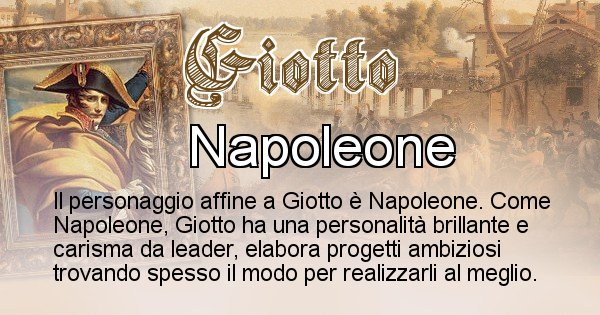 Giotto - Personaggio storico associato Giotto