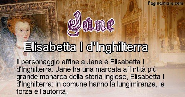 Jane - Personaggio storico associato Jane