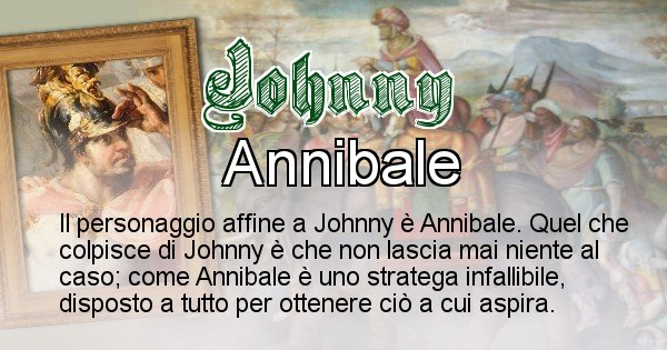 Johnny - Personaggio storico associato Johnny