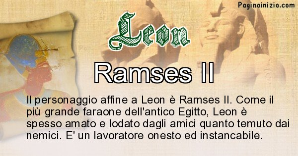 Leon - Personaggio storico associato Leon