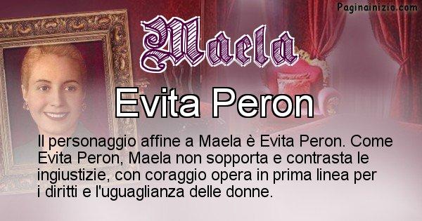 Maela - Personaggio storico associato Maela