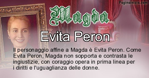 Magda - Personaggio storico associato Magda