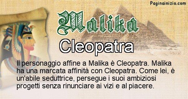 Malika - Personaggio storico associato Malika