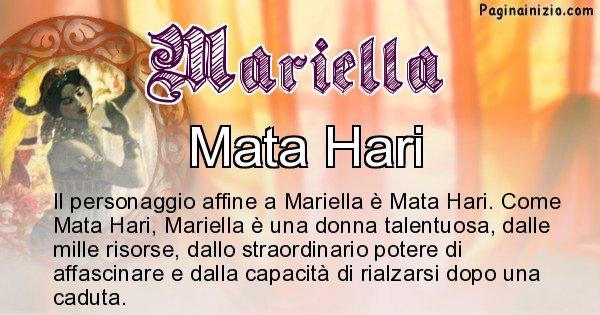 Mariella - Personaggio storico associato Mariella