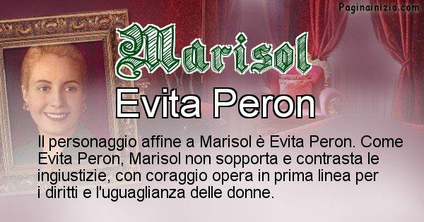 Marisol - Personaggio storico associato Marisol