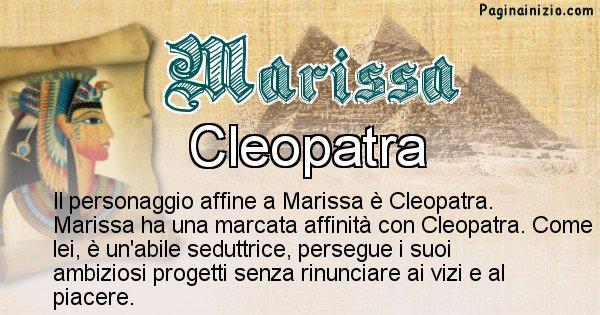 Marissa - Personaggio storico associato Marissa