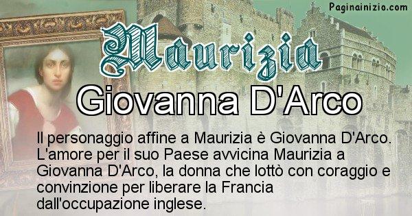 Maurizia - Personaggio storico associato Maurizia