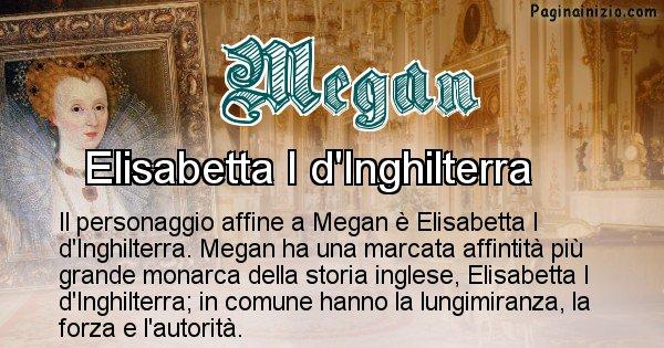 Megan - Personaggio storico associato Megan