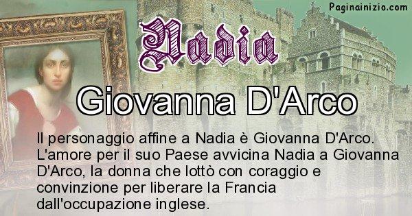 Nadia - Personaggio storico associato Nadia