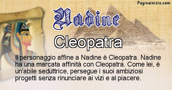 Nadine - Personaggio storico associato Nadine