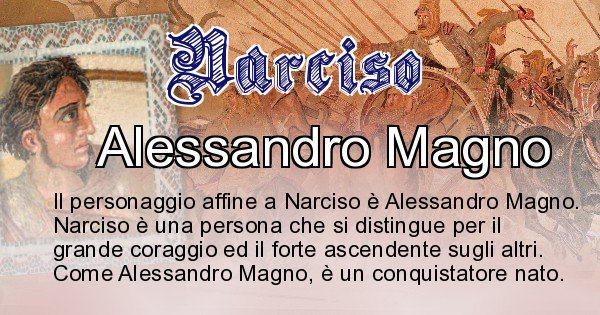 Narciso - Personaggio storico associato Narciso