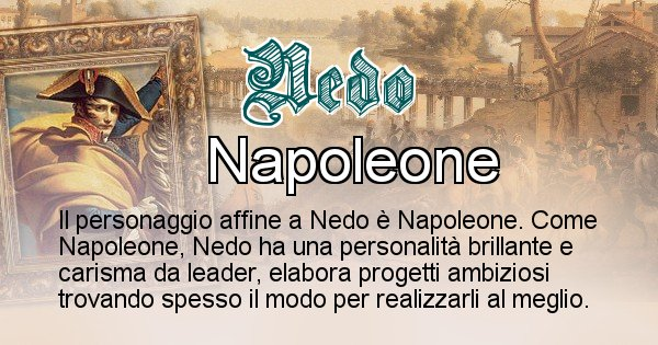 Nedo - Personaggio storico associato Nedo