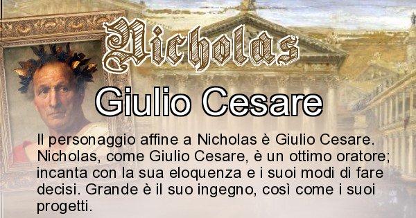 Nicholas - Personaggio storico associato Nicholas