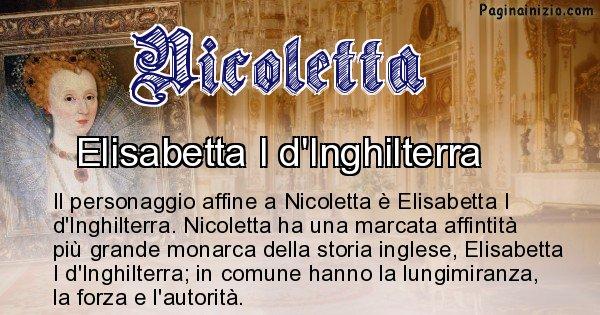Nicoletta - Personaggio storico associato Nicoletta