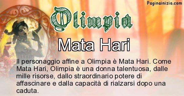 Olimpia - Personaggio storico associato Olimpia