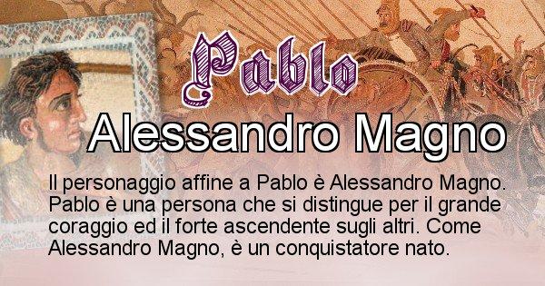 Pablo - Personaggio storico associato Pablo