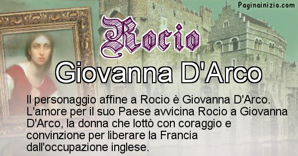 Rocio - Personaggio storico associato Rocio