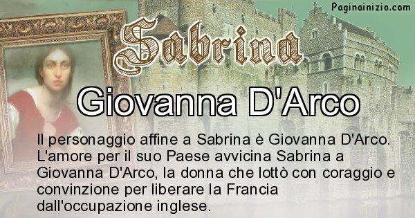 Sabrina - Personaggio storico associato Sabrina