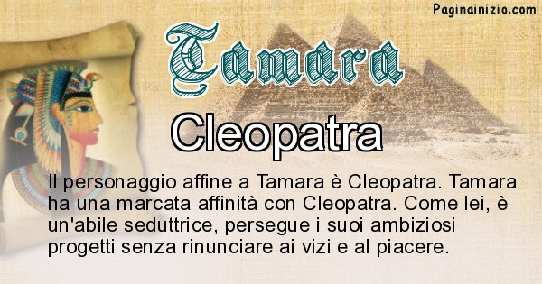 Tamara - Personaggio storico associato Tamara