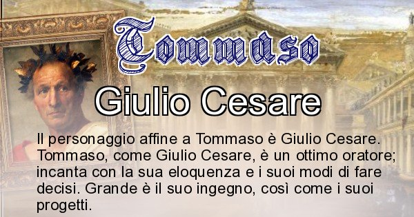 Tommaso - Personaggio storico associato Tommaso