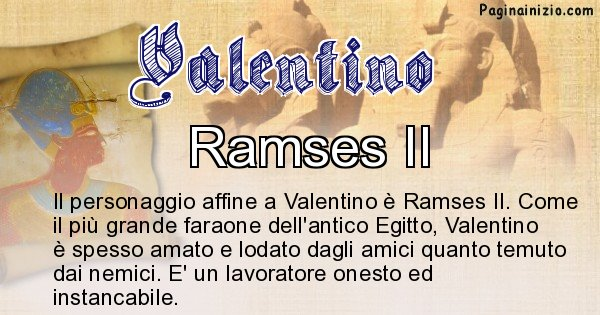 Valentino - Personaggio storico associato Valentino