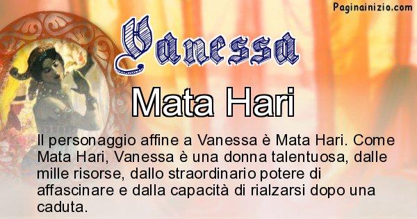 Vanessa - Personaggio storico associato Vanessa