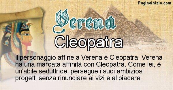 Verena - Personaggio storico associato Verena