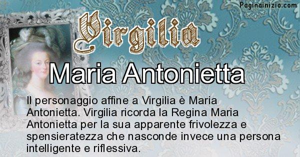 Virgilia - Personaggio storico associato Virgilia
