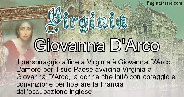 Virginia - Personaggio storico associato Virginia