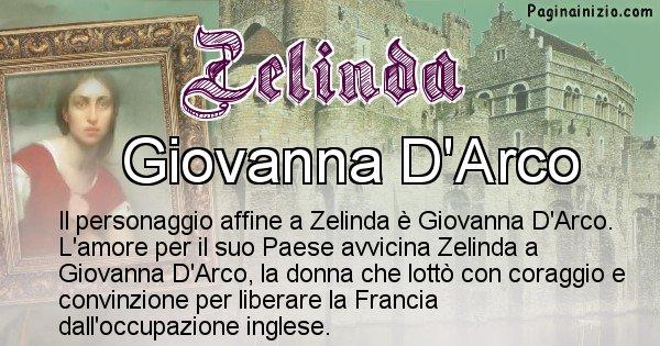 Zelinda - Personaggio storico associato Zelinda