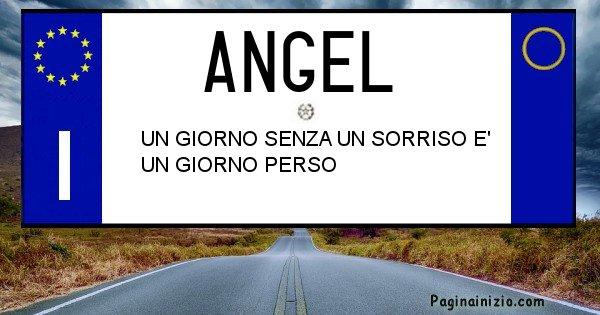 Angel - Targa personalizzata del Nome Angel