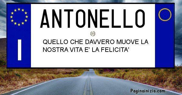 Antonello - Targa personalizzata del Nome Antonello