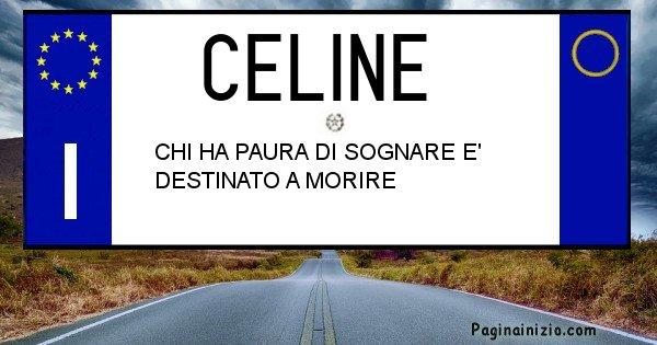 Celine - Targa personalizzata del Nome Celine