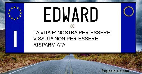 Edward - Targa personalizzata del Nome Edward