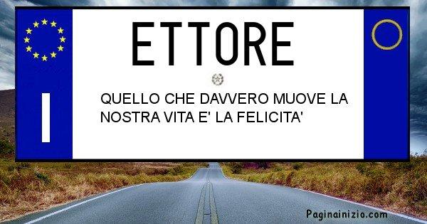 Ettore - Targa personalizzata del Nome Ettore