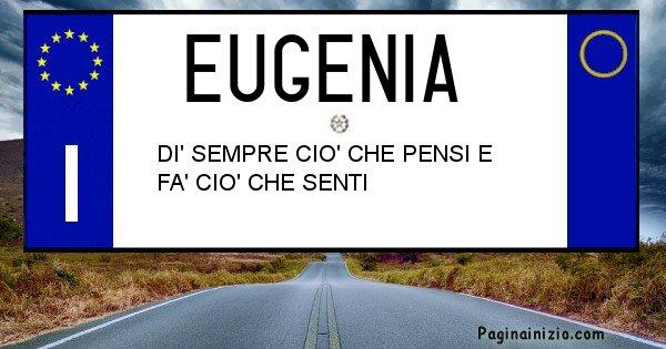 Eugenia - Targa personalizzata del Nome Eugenia