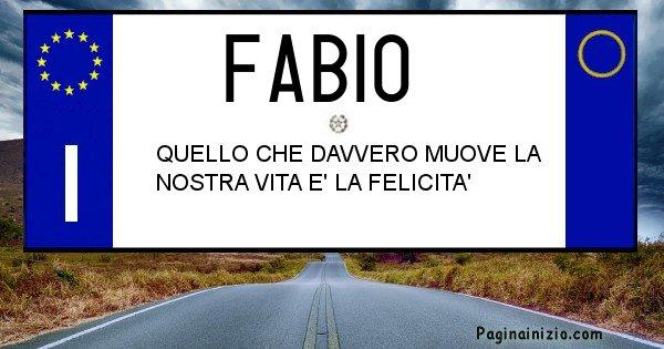 Fabio - Targa personalizzata del Nome Fabio