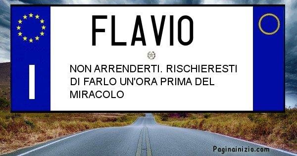 Flavio - Targa personalizzata del Nome Flavio