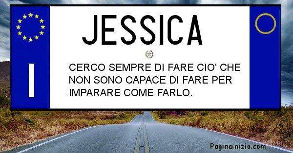 Jessica - Targa personalizzata del Nome Jessica
