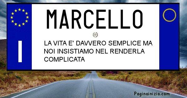 Marcello - Targa personalizzata del Nome Marcello