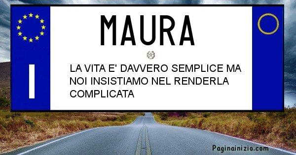 Maura - Targa personalizzata del Nome Maura