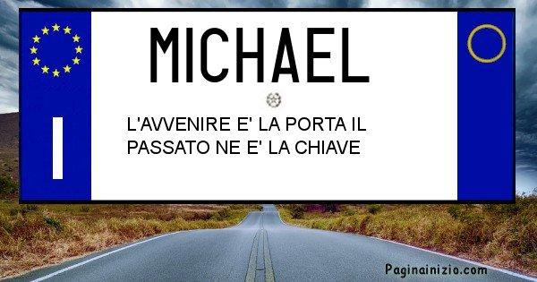 Michael - Targa personalizzata del Nome Michael