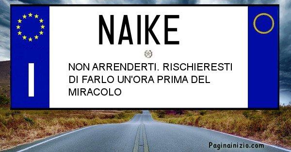 Naike - Targa personalizzata del Nome Naike