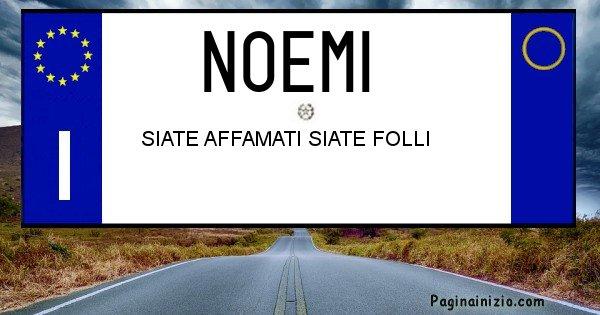 Noemi - Targa personalizzata del Nome Noemi