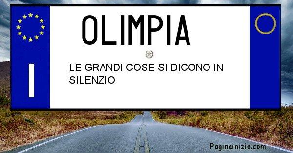 Olimpia - Targa personalizzata del Nome Olimpia