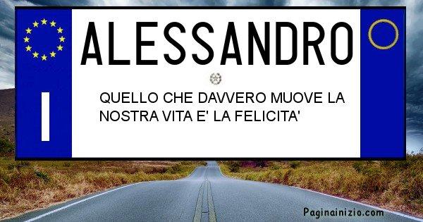 Alessandro - Targa personalizzata sul Cognome Alessandro