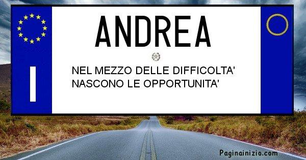 Andrea - Targa personalizzata sul Cognome Andrea