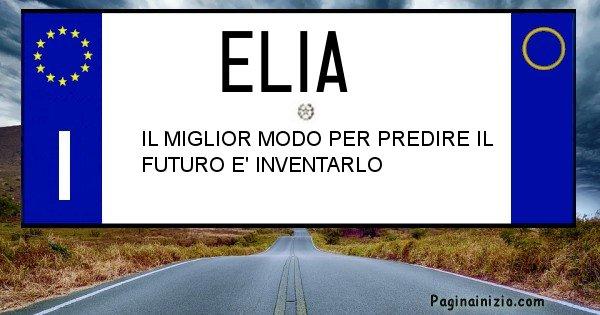 Elia - Targa personalizzata sul Cognome Elia